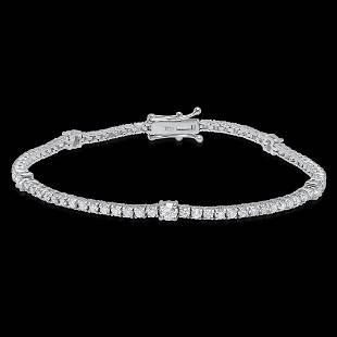18K White Gold 3.15cts. Diamond Bracelet