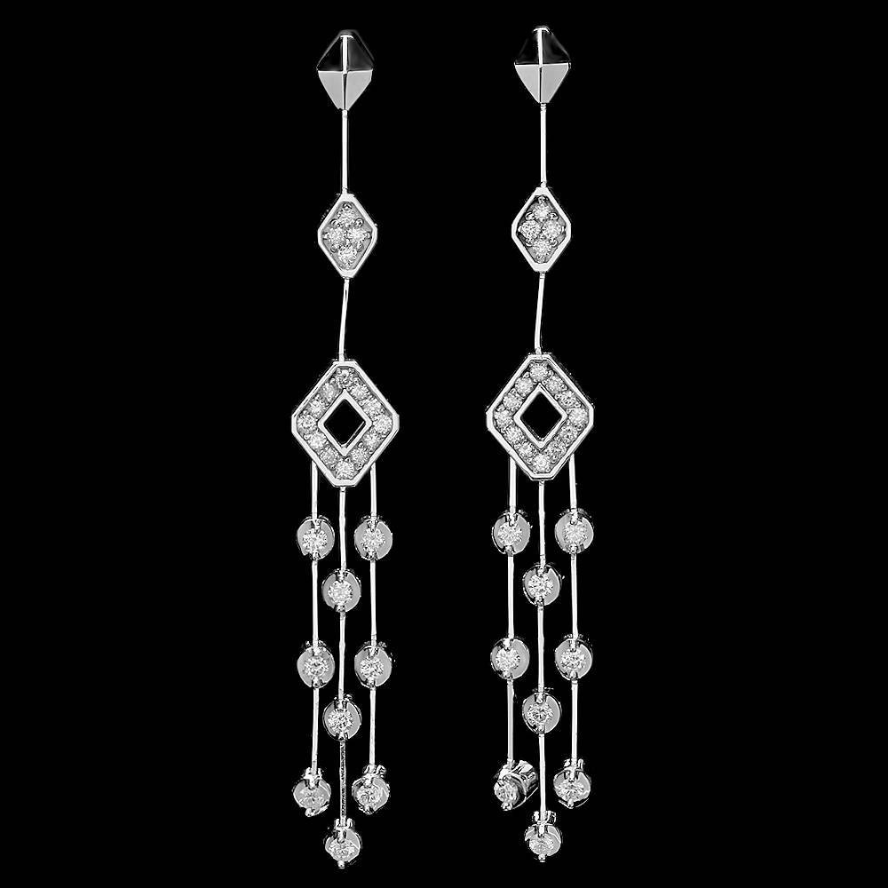14k White Gold 0.80ct Diamond Earrings