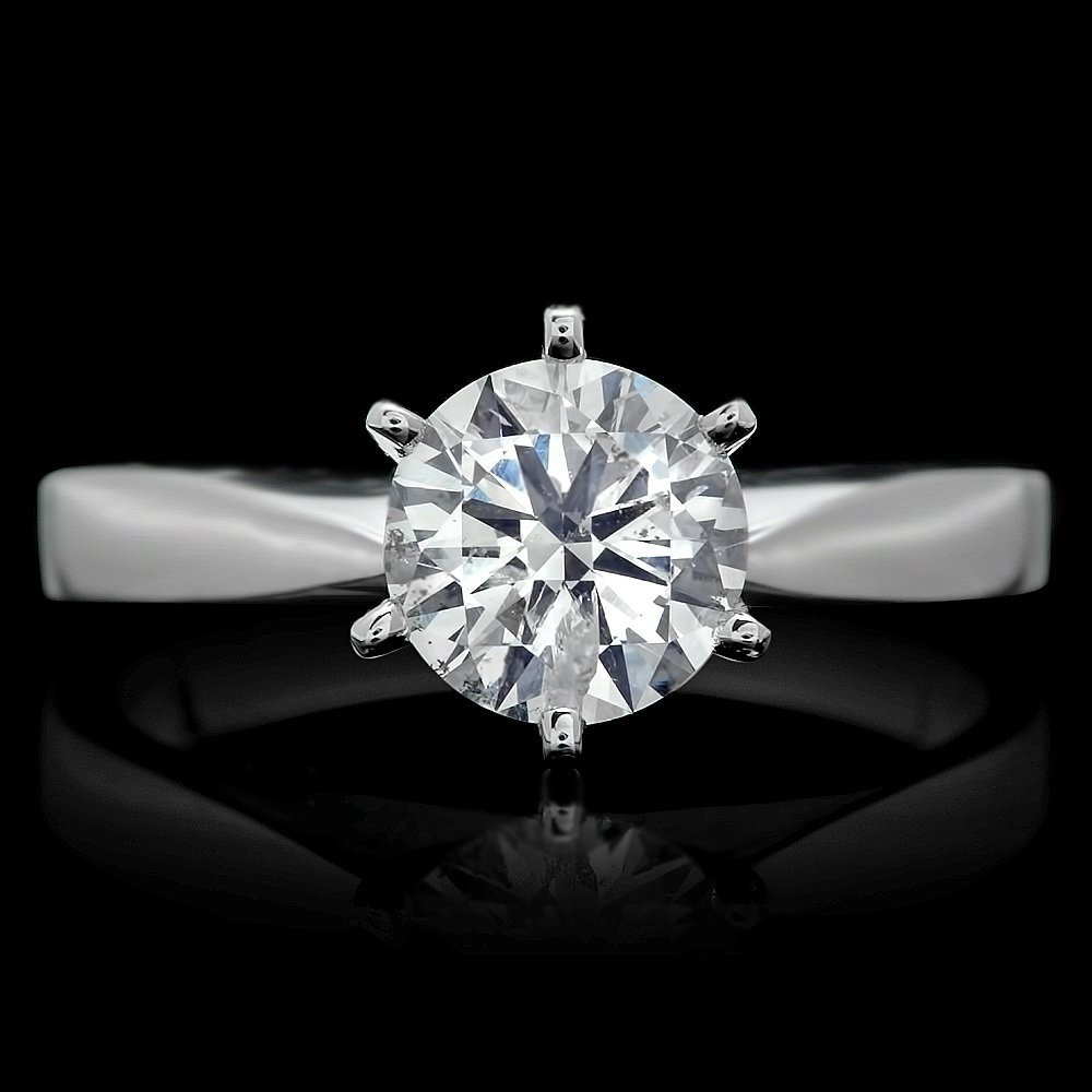 18k White Gold 1.07ct Diamond Ring