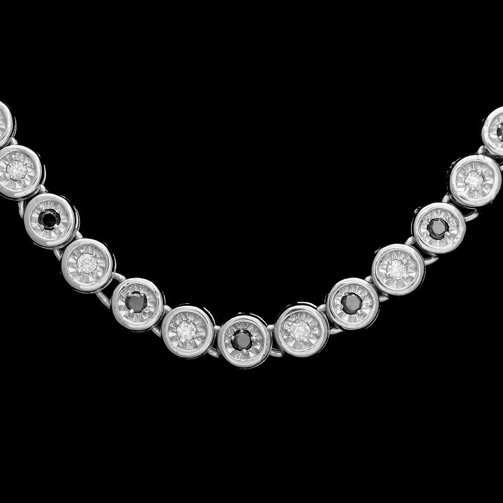 14k White Gold 2.42ct Diamond Necklace
