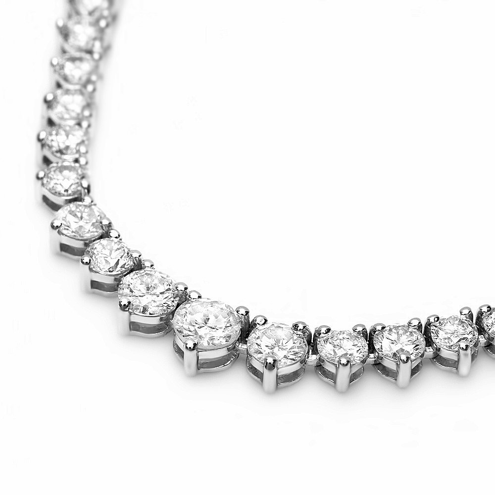 18k White Gold 6.70ct Diamond Necklace