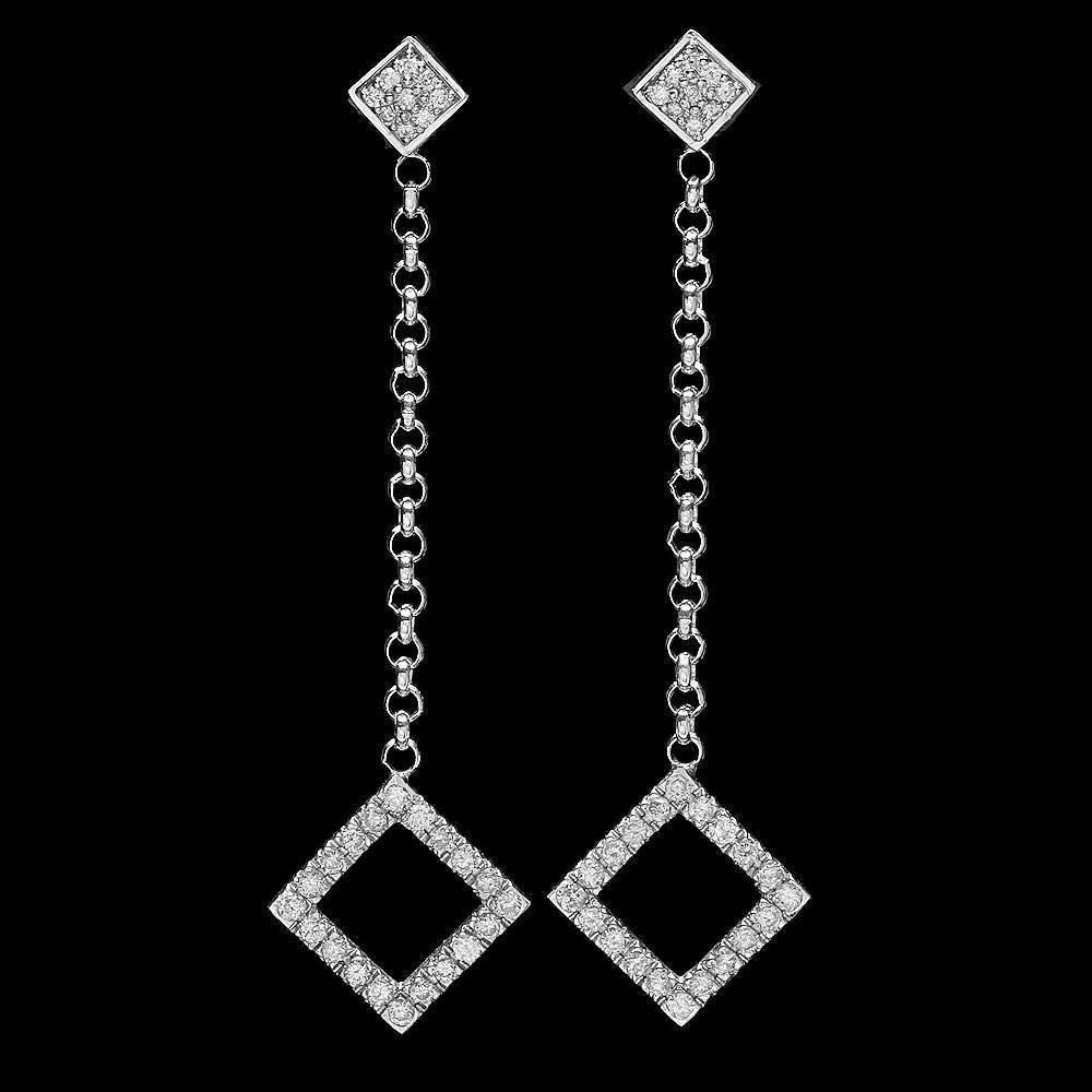 14k White Gold 0.60ct Diamond Earrings
