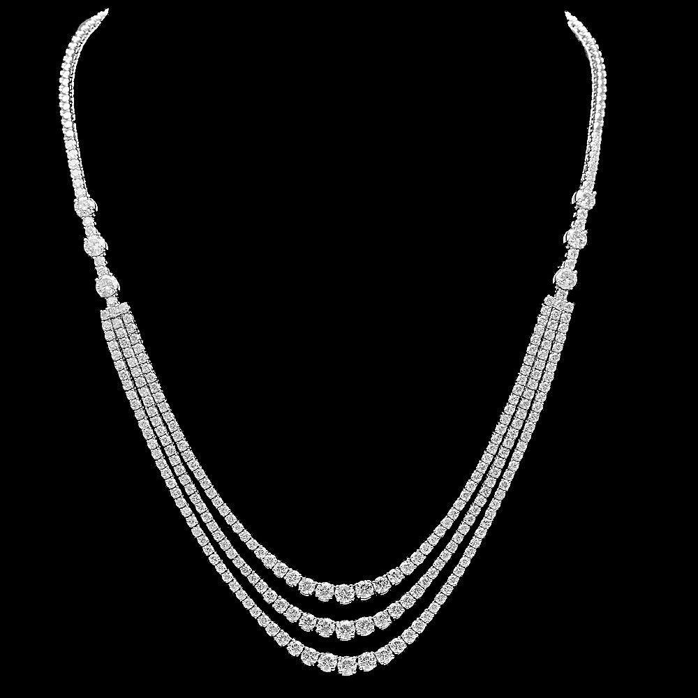 18k White Gold 12.90ct Diamond Necklace
