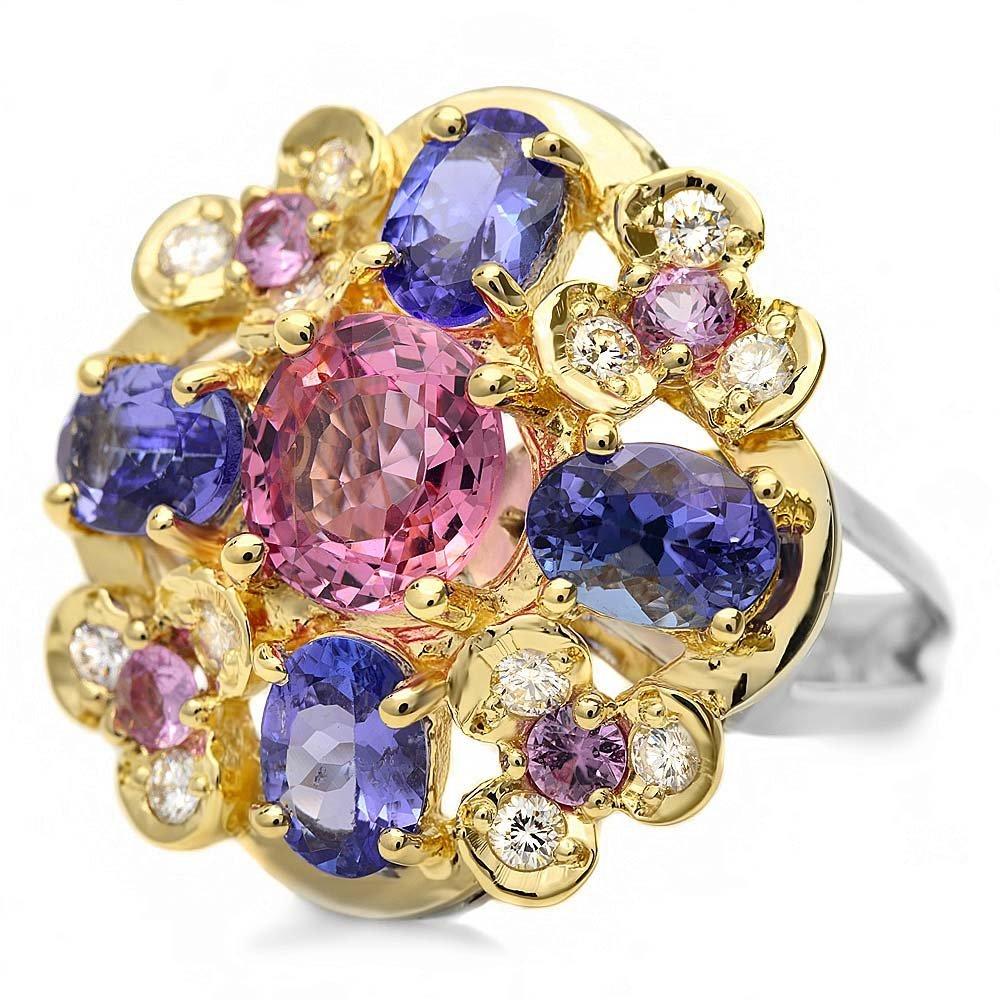 14k Gold 2.00ct Spinel 0.50ct Diamond Ring