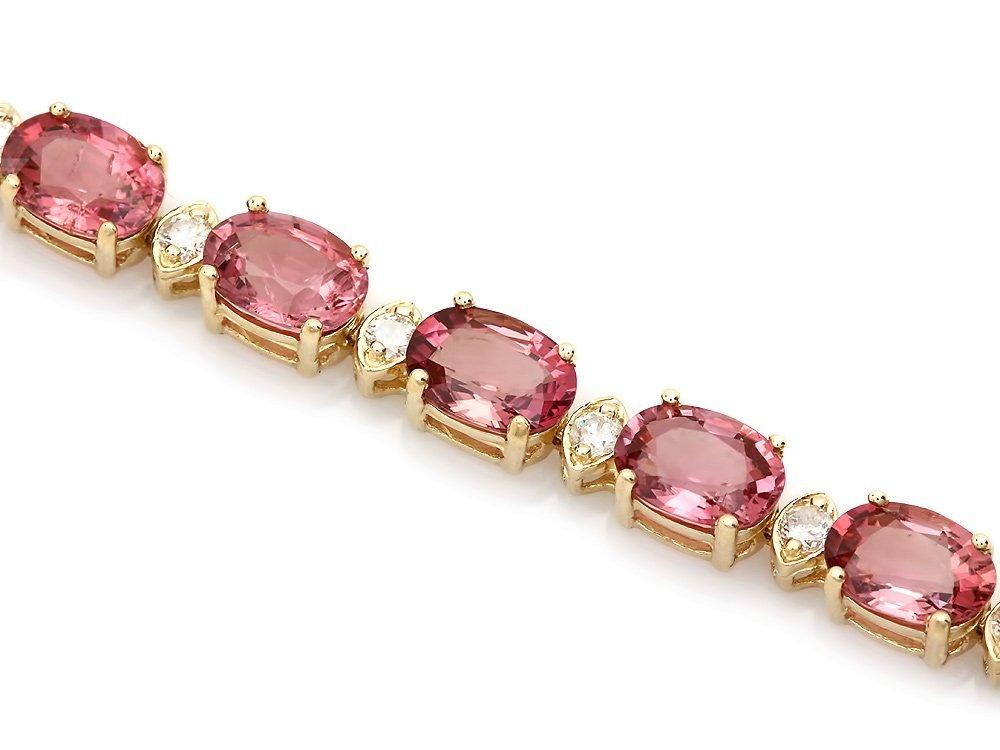 14k 15.00ct Tourmaline 0.80ct Diamond Bracelet