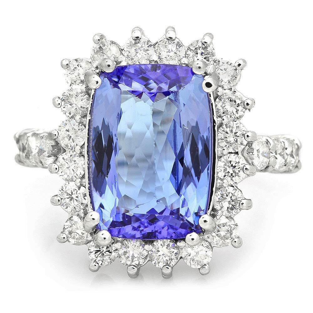 14k Gold 4.00ct Tanzanite 1.10ct Diamond Ring