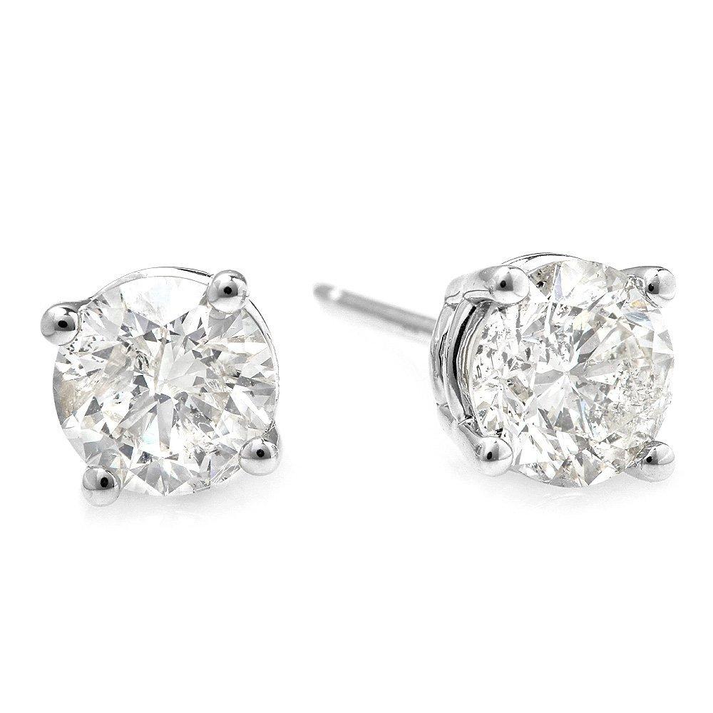 14k White Gold 1.00ct Diamond Earrings