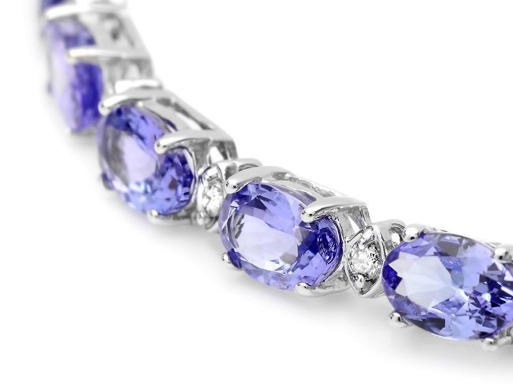 14k Gold 10ct Tanzanite 0.40ct Diamond Bracelet