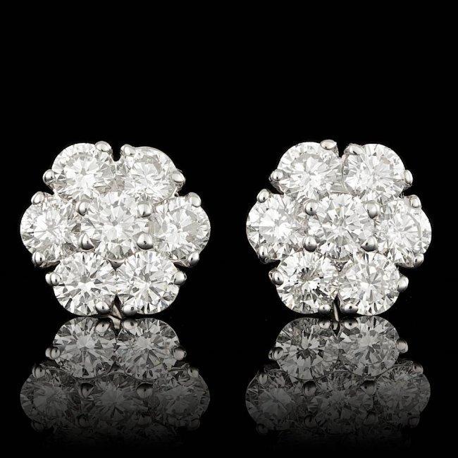 14k White Gold 2.25ct Diamond Earrings
