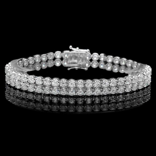 18k White Gold 10.80ct Diamond Bracelet