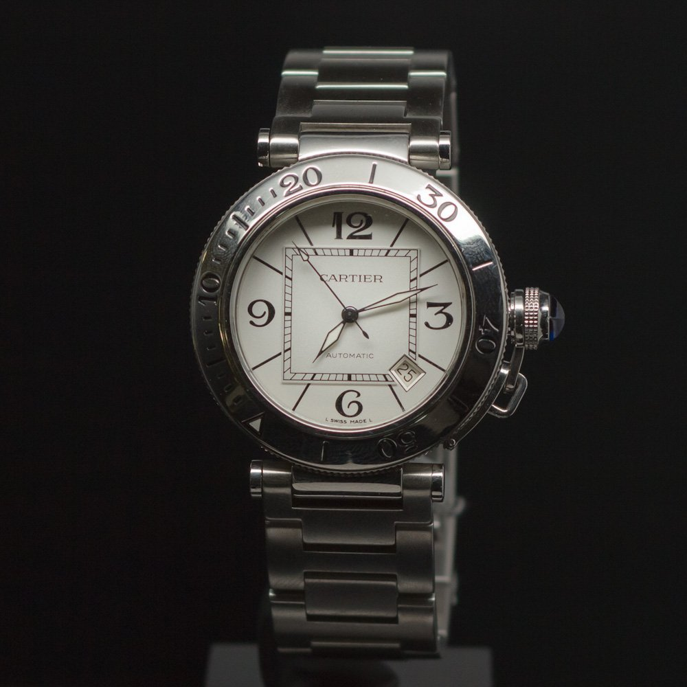 Cartier Pasha Seatimer Stainless Steel Men's Wristwatch