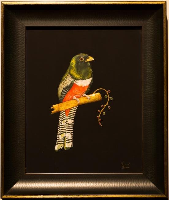 Indian Miniature Contemporary Bird Painting with