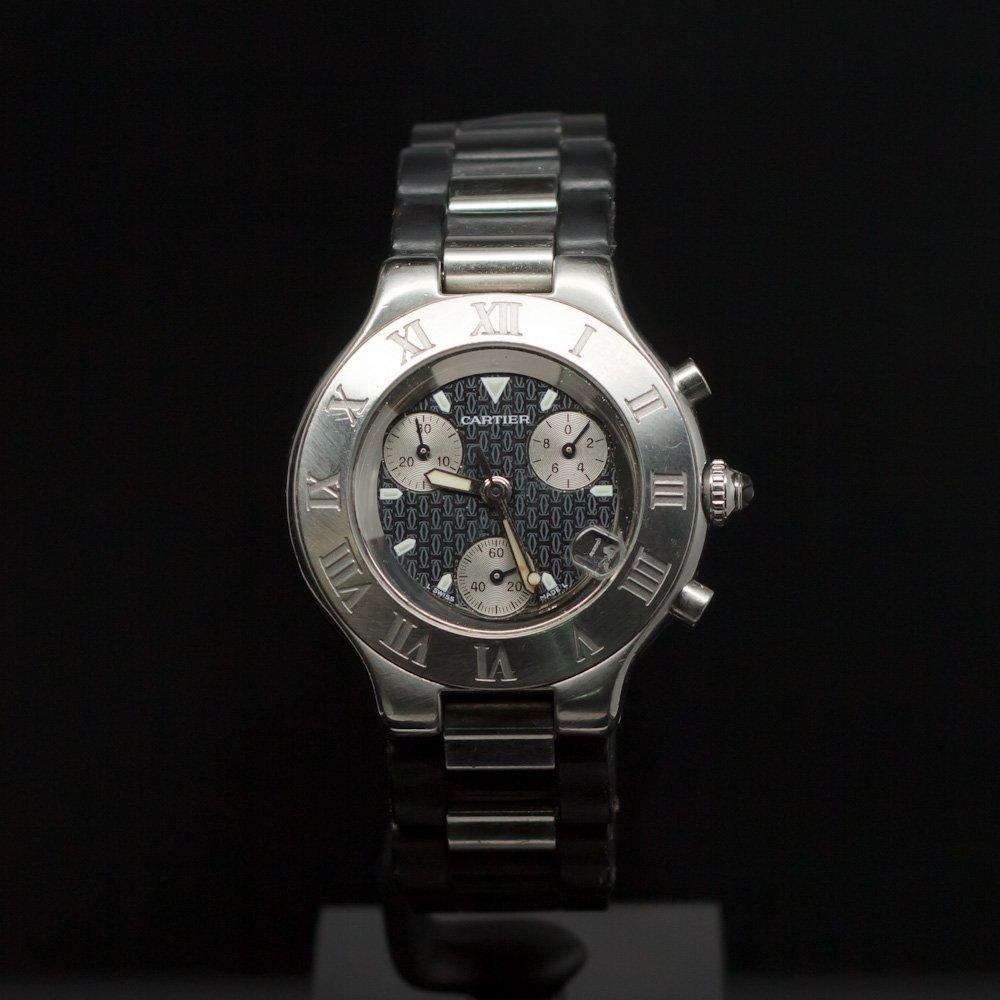 Cartier Must 21 Chronoscaph Men's Wristwatch