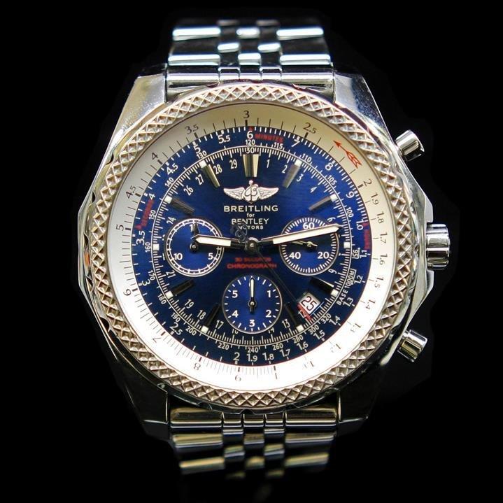 Breitling 47mm Bentley Motors T Speed Blue Chronograph
