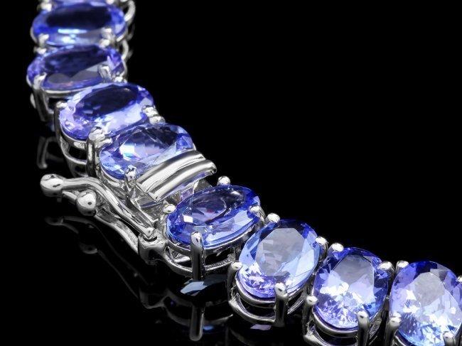 14k 54.00ct Tanzanite 2.00ct Diamond Necklace - 5