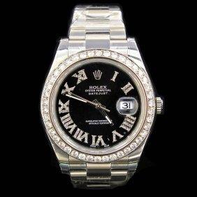 Rolex Datejust Ll 41mm Aprox. 4.5 Cts. Diamond Bezel