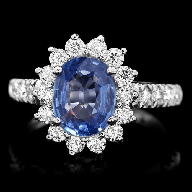 14k Gold 2.00ct Sapphire 0.85ct Diamond Ring