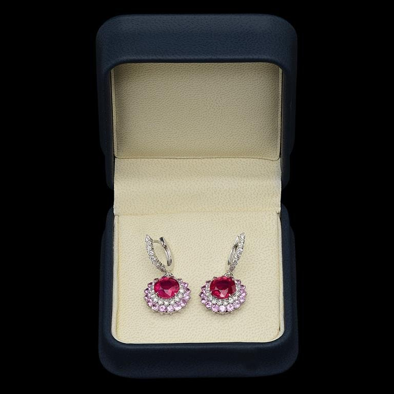 14K Gold 6.04ct Ruby, 4.80ct Pink Sapphire, 1.48ct - 2