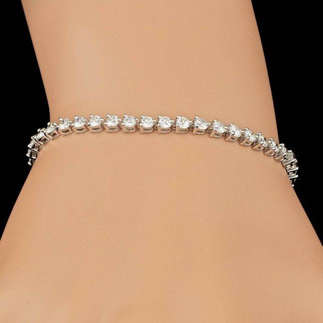18k White Gold 4.50ct Diamond Bracelet - 4