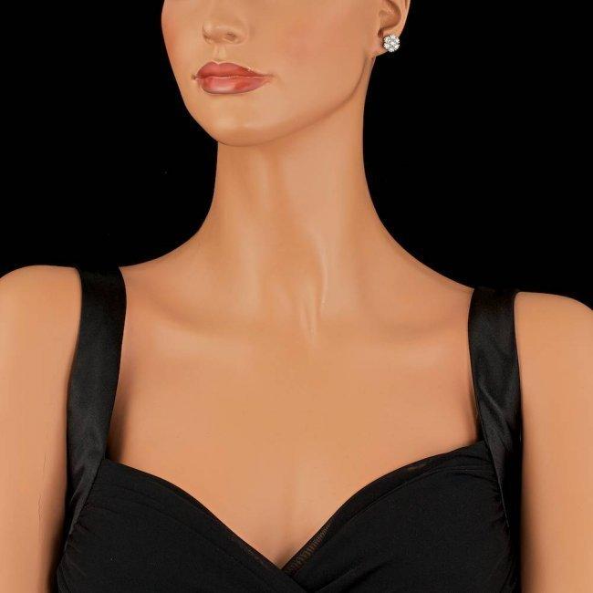 14k White Gold 2.75ct Diamond Earrings - 4