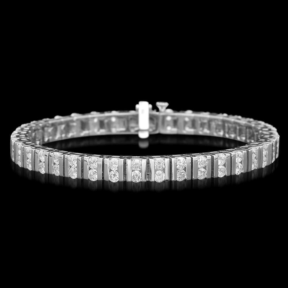 14K Gold 5.85ct Diamond Bracelet