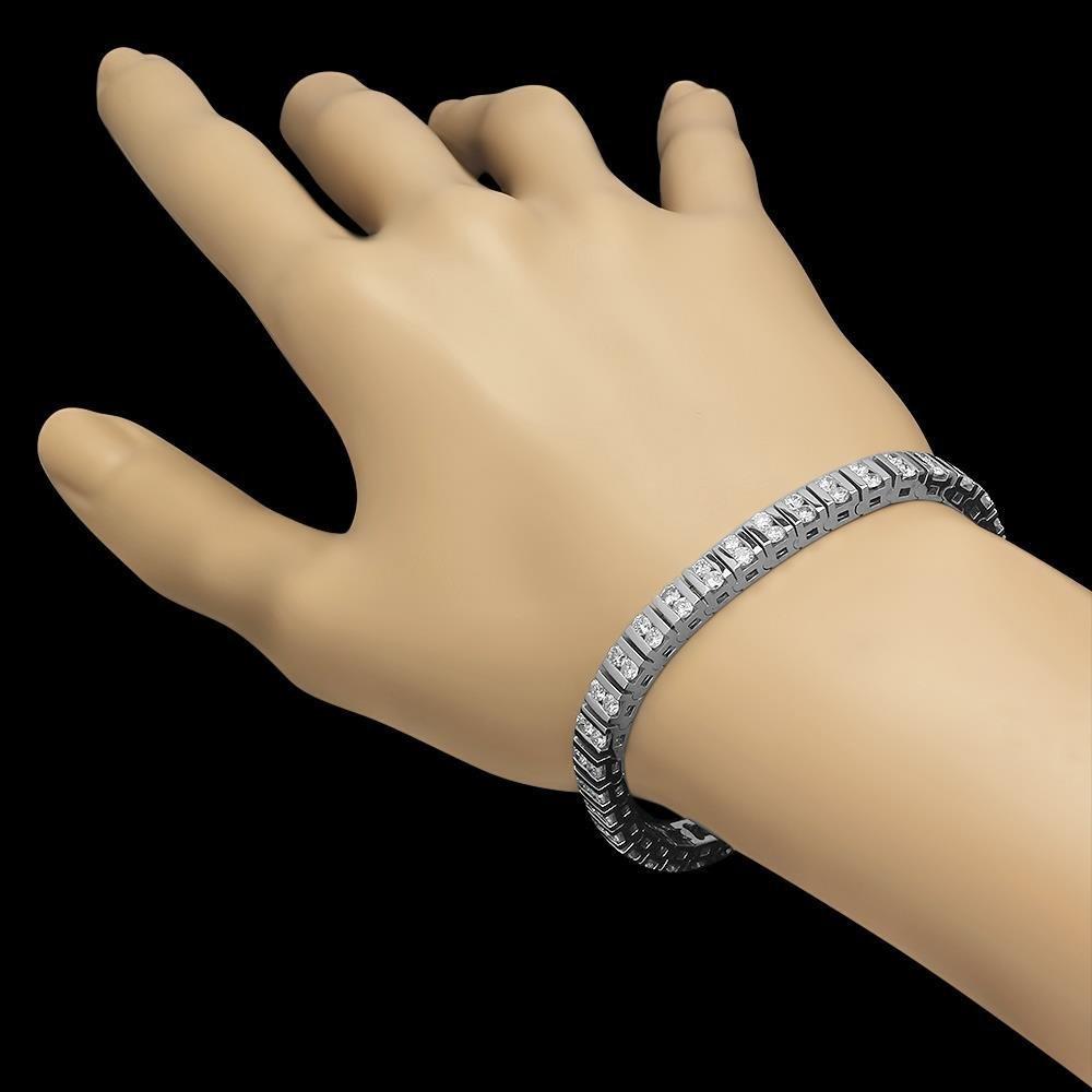14K Gold 5.85ct Diamond Bracelet - 2