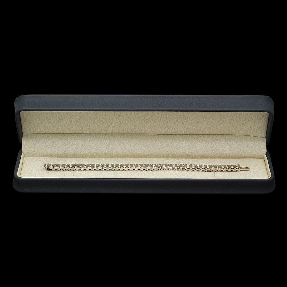 14K Gold 5.85ct Diamond Bracelet - 3