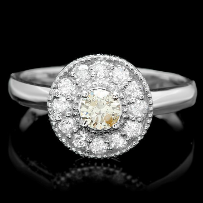 14k White Gold .67ct Diamond Ring