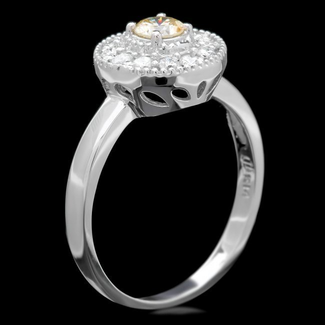 14k White Gold .67ct Diamond Ring - 2