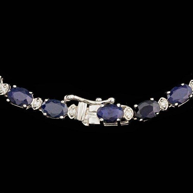 14k Gold 30.00ct Sapphire 1.25ct Diamond Necklace - 3
