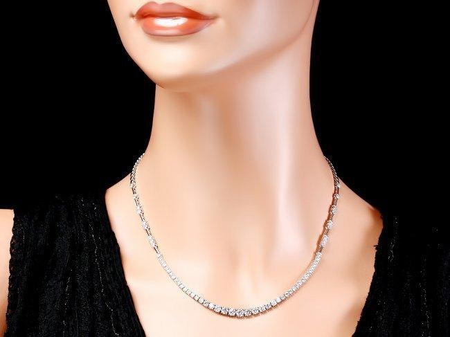 18k White Gold 5.80ct Diamond Necklace - 3