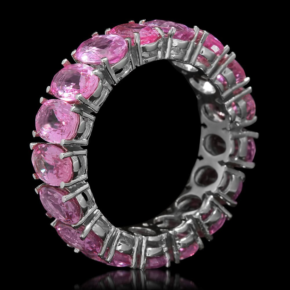 14K Gold 10.25ct Pink Sapphire Ring - 2