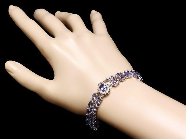 14k 22.35ct Tanzanite 0.45ct Diamond Bracelet - 4