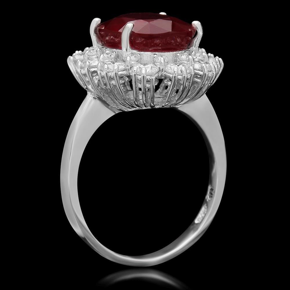14K Gold 6.20ct Ruby 1.46ct Diamond Ring - 2