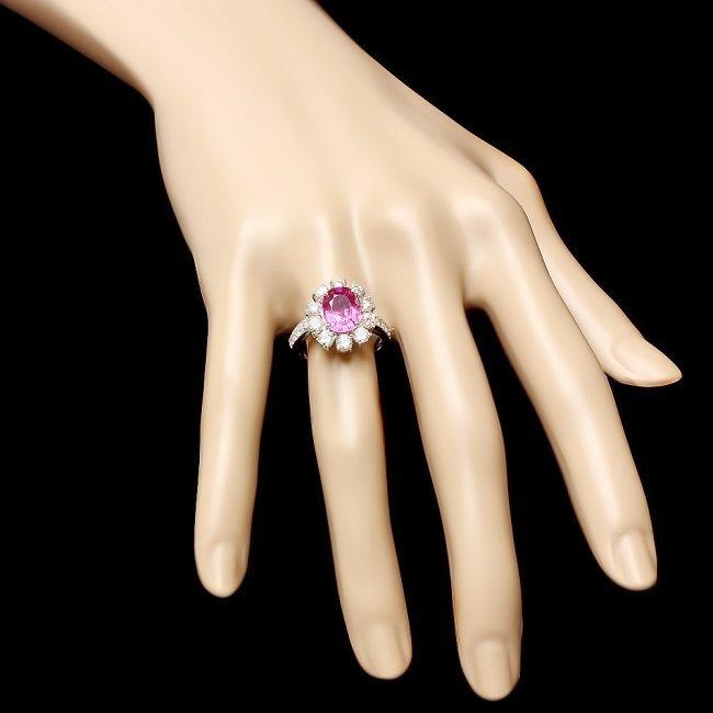 14k Gold 2.30ct Tourmaline 1.55ct Diamond Ring - 3
