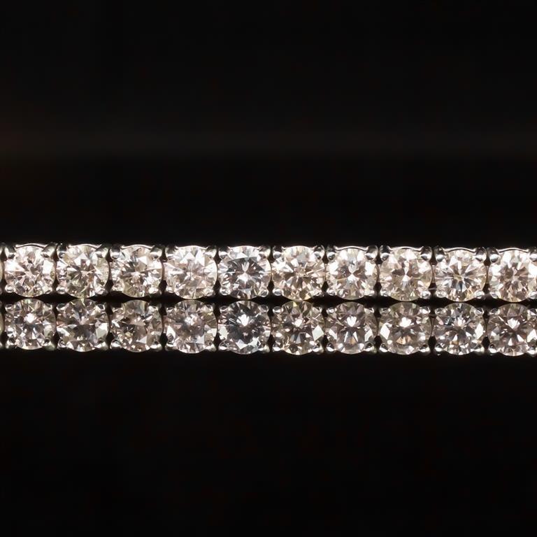 18K Gold 9.02ct Diamond Bracelet - 2
