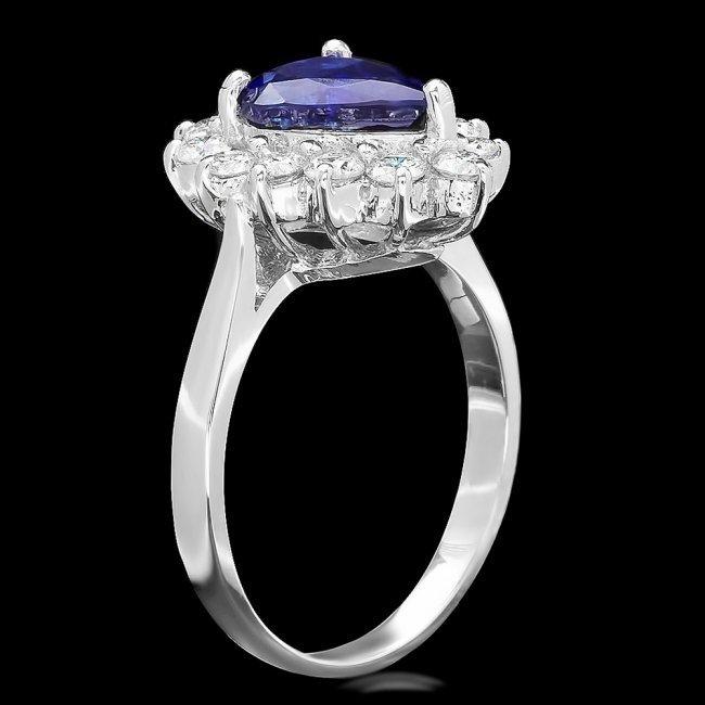 14k Gold 2.07ct Sapphire 0.75ct Diamond Ring - 2