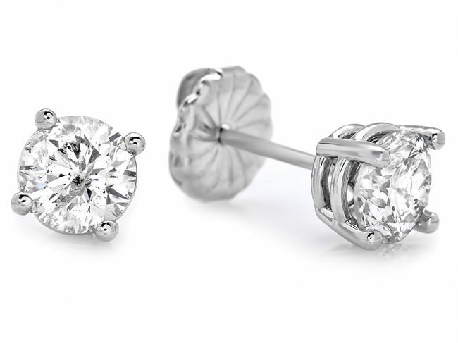 14k White Gold 1.60ct Diamond Earrings - 3