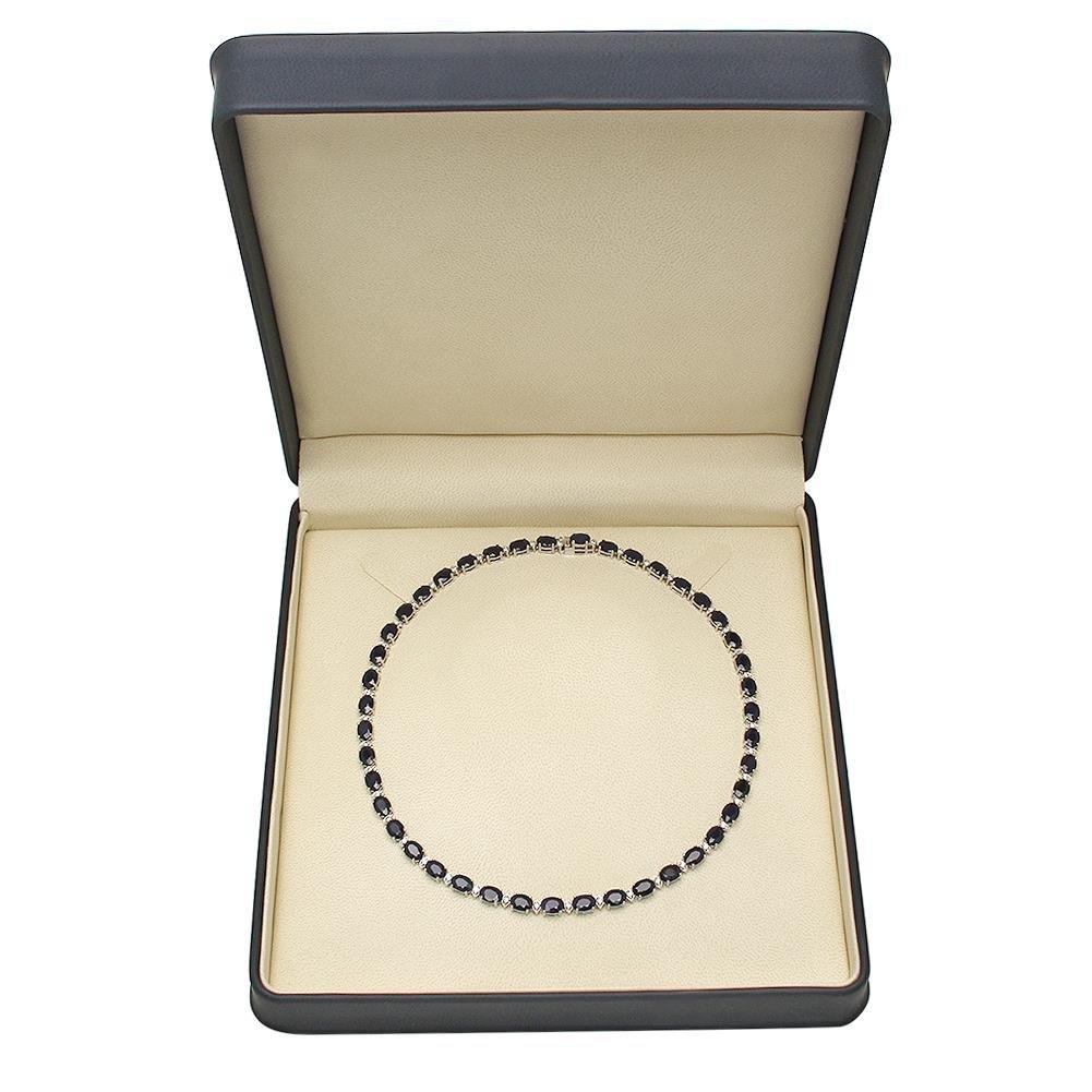 14K Gold 43.10ct Sapphire 1.51ct Diamond Necklace - 4