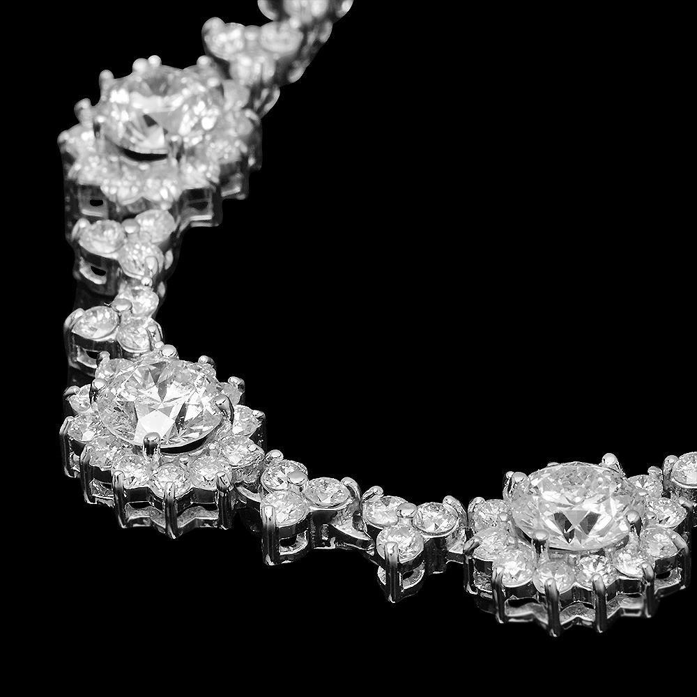 18K Gold 16.81ct Diamond Necklace - 2