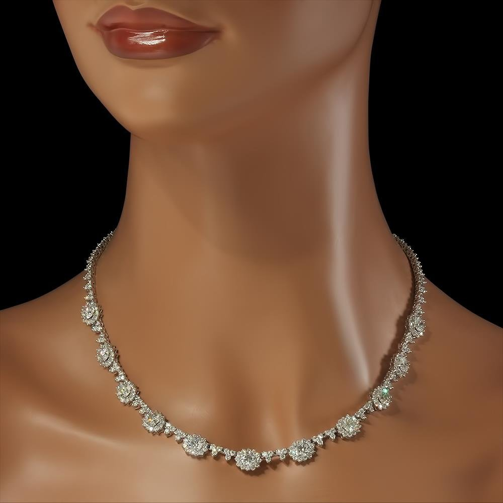 18K Gold 16.81ct Diamond Necklace - 3