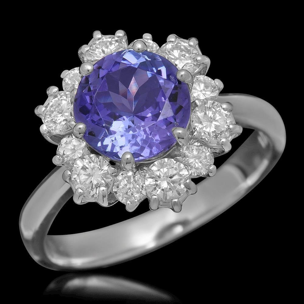 14K Gold 2.01ct Tanzanite 1.00ct Diamond Ring