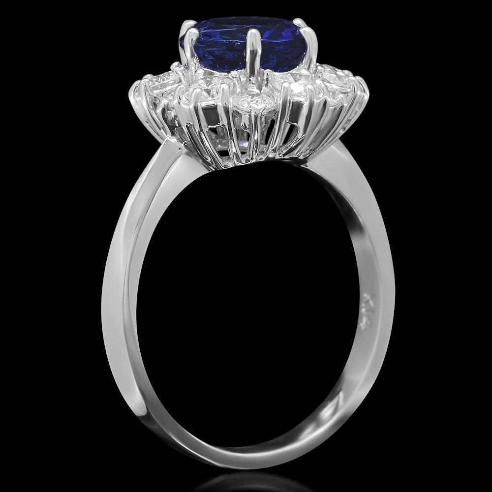 14K Gold 2.01ct Tanzanite 1.00ct Diamond Ring - 2