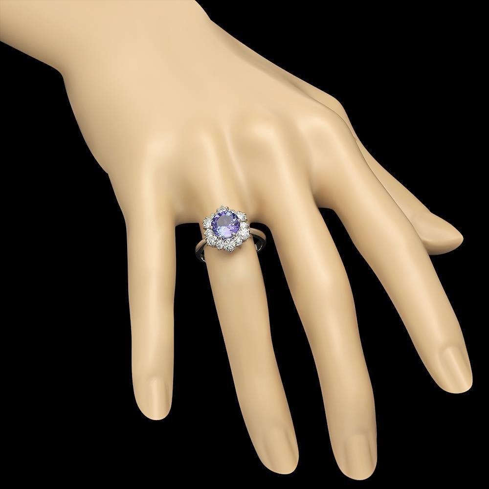 14K Gold 2.01ct Tanzanite 1.00ct Diamond Ring - 3