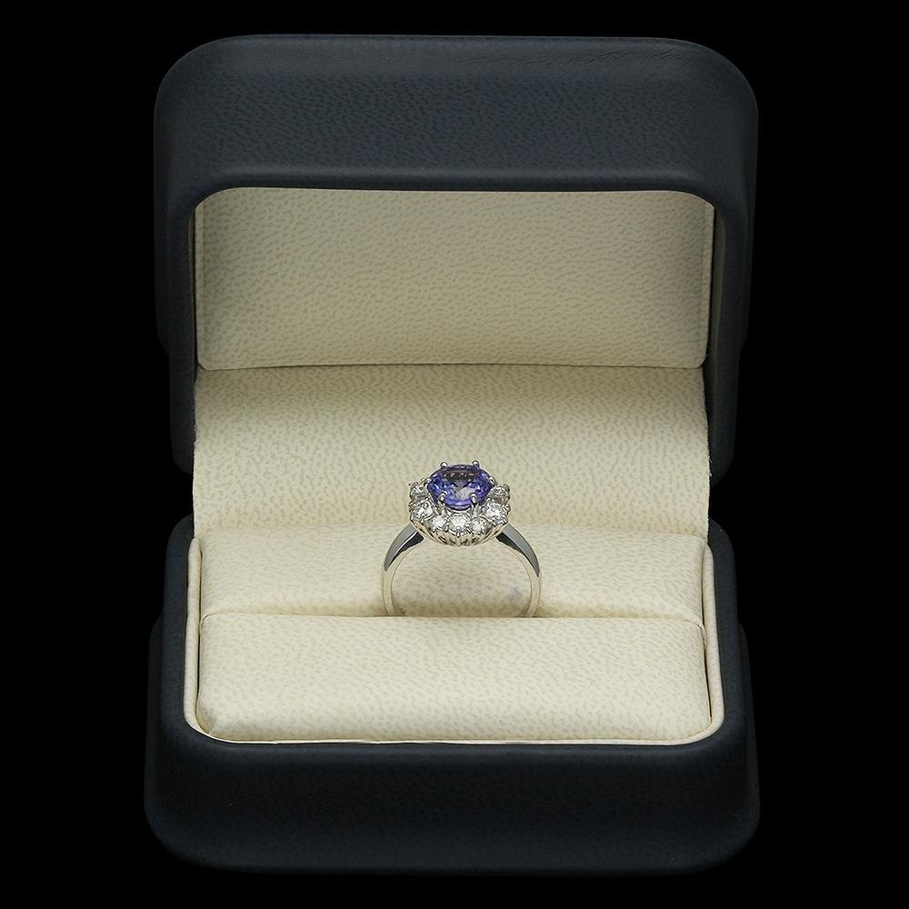 14K Gold 2.01ct Tanzanite 1.00ct Diamond Ring - 4