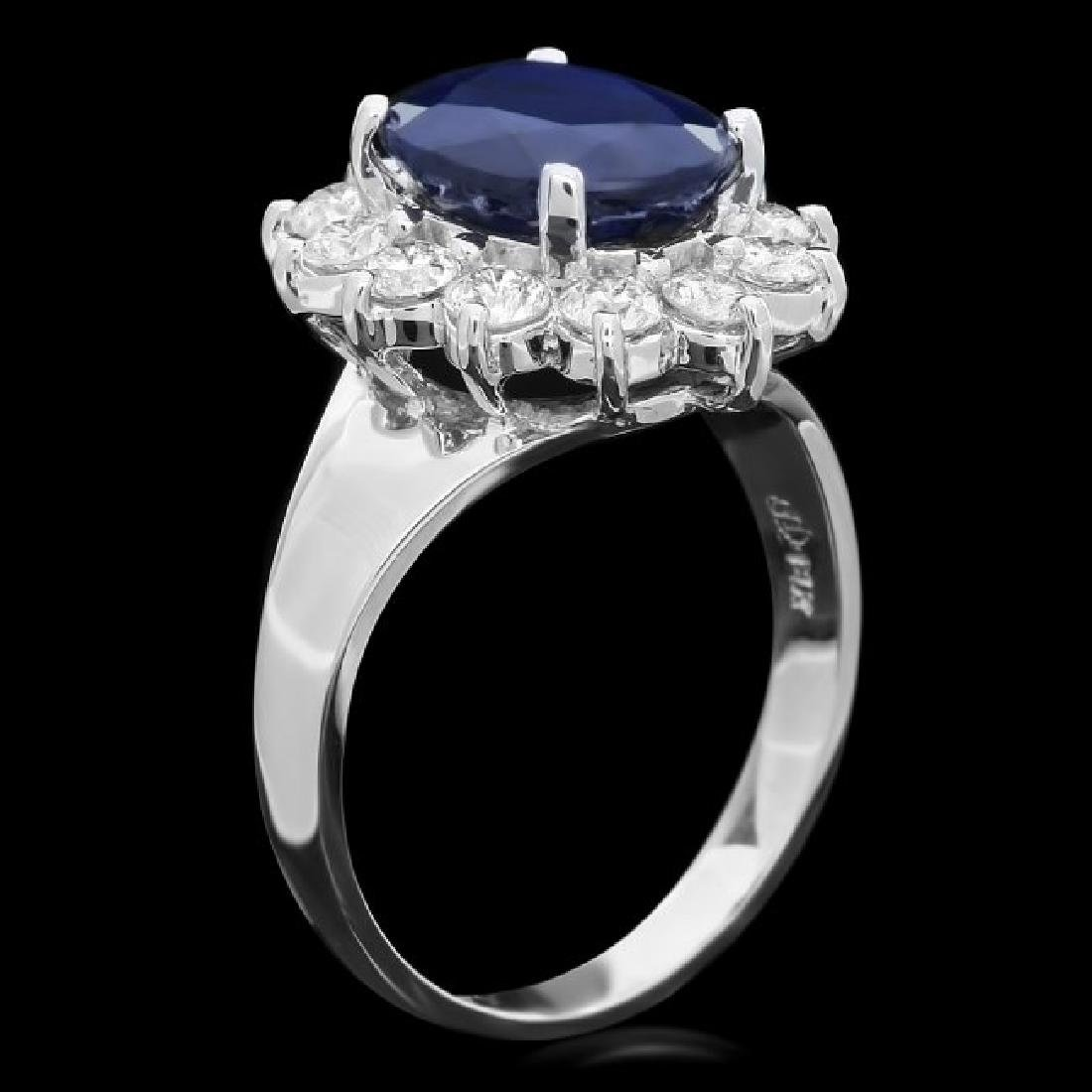 14k Gold 4.00ct Sapphire 1.10ct Diamond Ring - 2