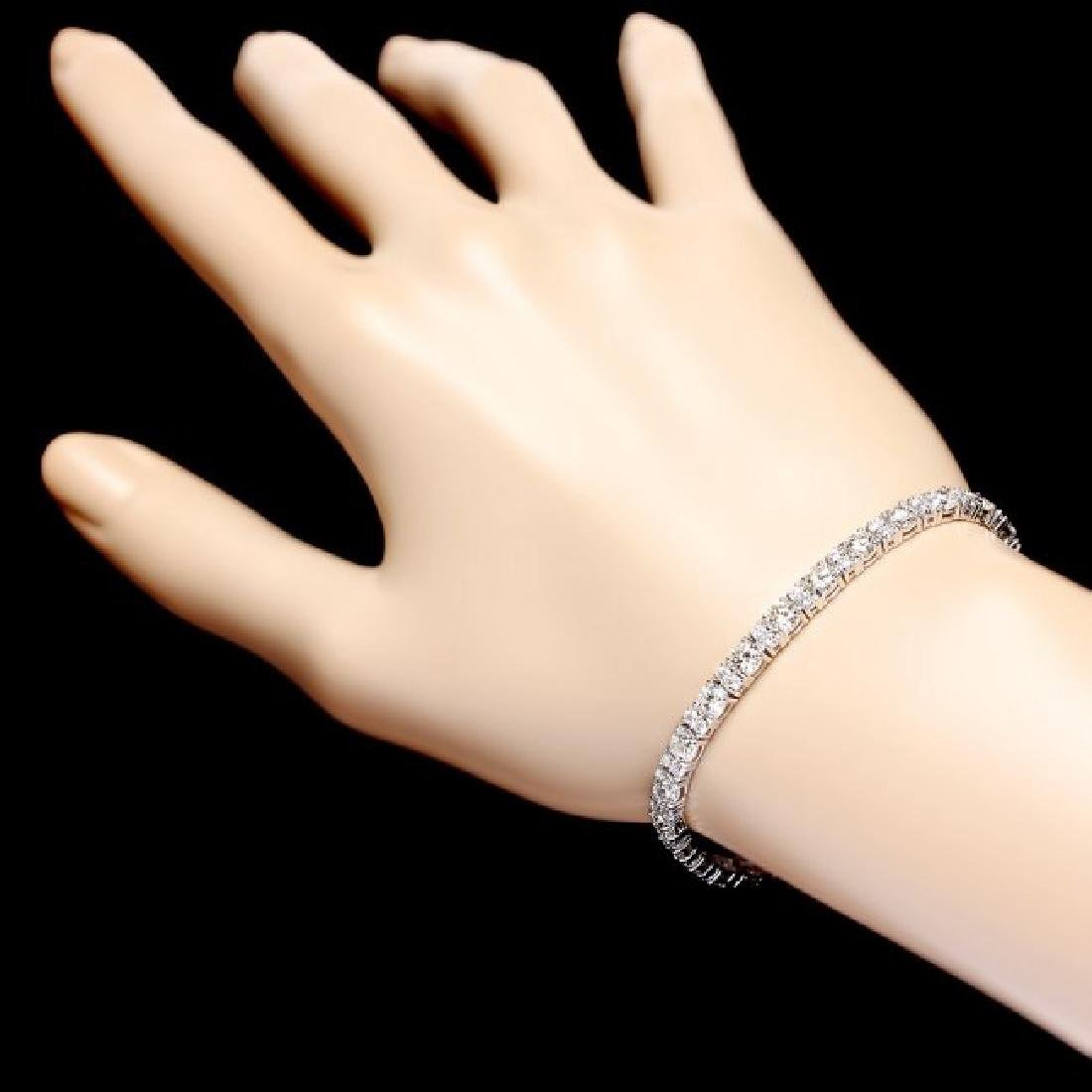 18k White Gold 8.60ct Diamond Bracelet - 5