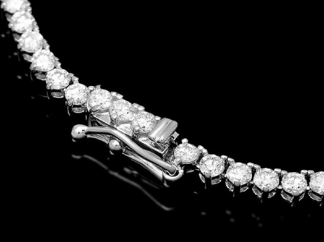 18k White Gold 9.20ct Diamond Necklace - 2