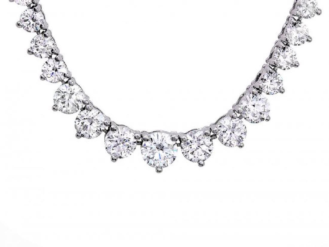18k White Gold 9.20ct Diamond Necklace - 6