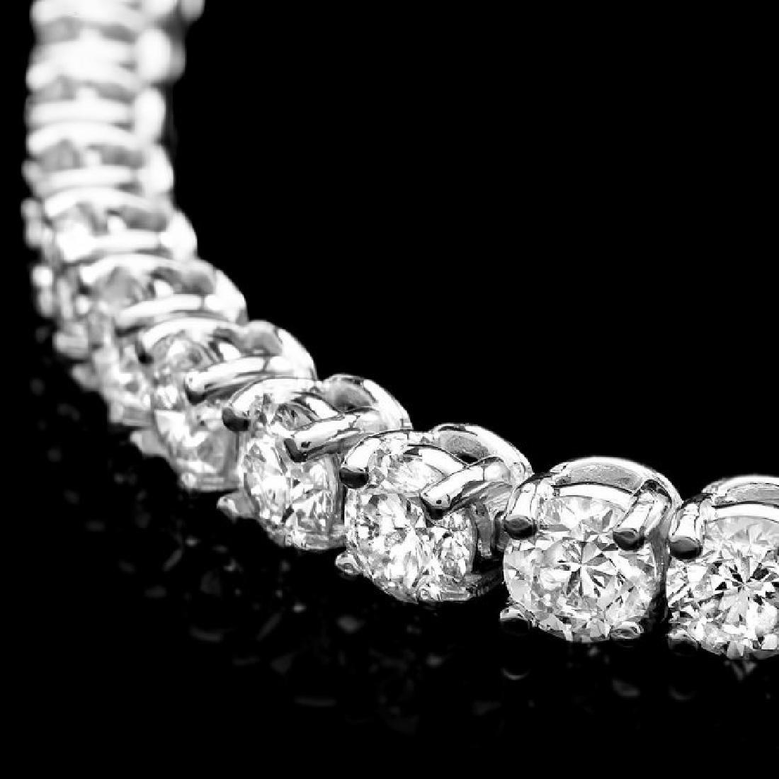 14k White Gold 6.60ct Diamond Bracelet - 2